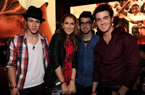 jonas brothers with celine dion