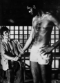 on the set of Game of Death - bruce-lee photo