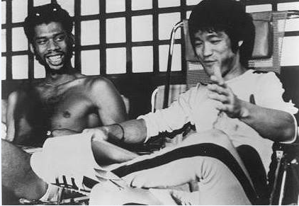 on the set of Game of Death