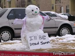 real life snowman...