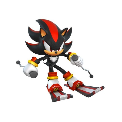 Shadow The Hedgehog wallpaper entitled shadow skiing