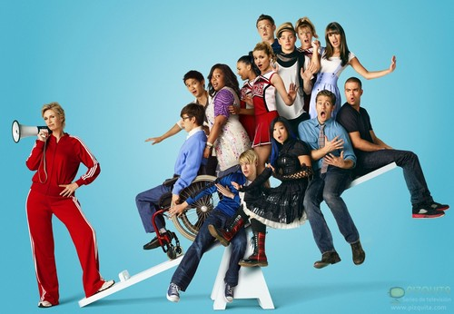 with Glee cast - sam-evans Photo