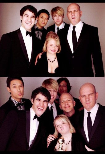 with Glee cast