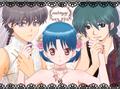 Akane and 2 Ranmas ( Ranma 1 2) - anime fan art
