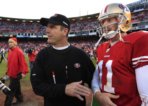 Alex Smith and Jim Harbaugh