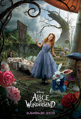 Alice im Wunderland (2010) Hintergrund with a bouquet entitled Alice In Wonderland