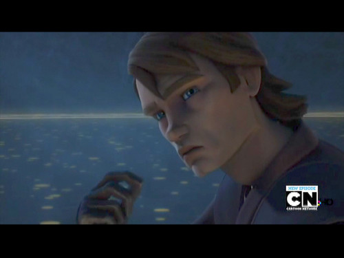 étoile, étoile, star Wars: Clone Wars fond d'écran probably containing a sign, a télévision receiver, and a business district entitled Anakin Skywalker
