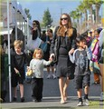 Angelina Jolie: Farmers' Market With the Kids! - angelina-jolie photo