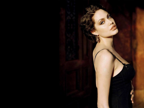 Angelina Jolie wallpaper possibly containing attractiveness, a bustier, and a chemise titled Angelina Jolie