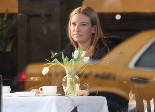 Anna on set of Fringe January 17, 2012
