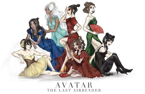 Avatar The Last Airbender karatasi la kupamba ukuta probably containing anime called Avatar Ladies