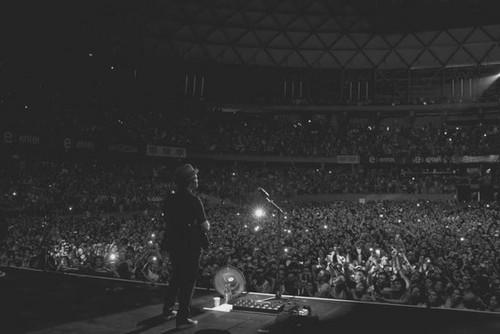 Bruno performing