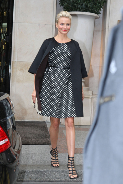 Cameron Diaz spotted leaving the George V Hotel in Paris, France.