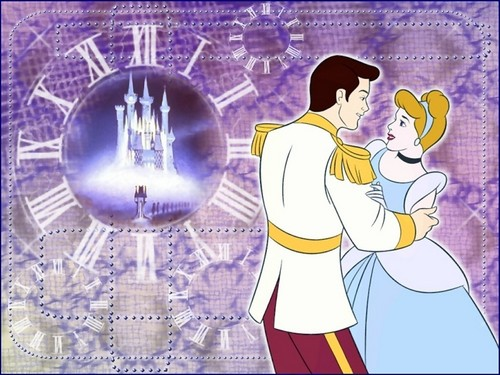 cinderella and prince charming wallpaper probably containing anime called Cinderella and Charming