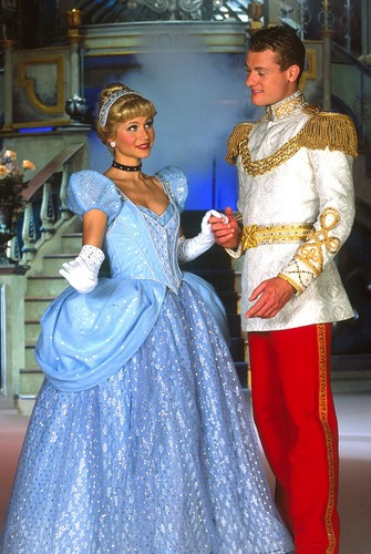cinderella and prince charming wallpaper probably with a hoopskirt, a polonaise, and a crinoline called Cinderella and Charming