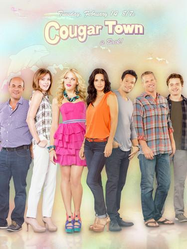Cougar Town wallpaper probably with bare legs, hosiery, and a hip boot entitled Cougar Town Poster