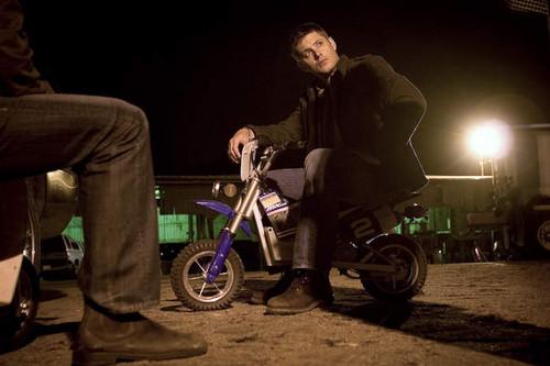 Dean On Mini Motorbike