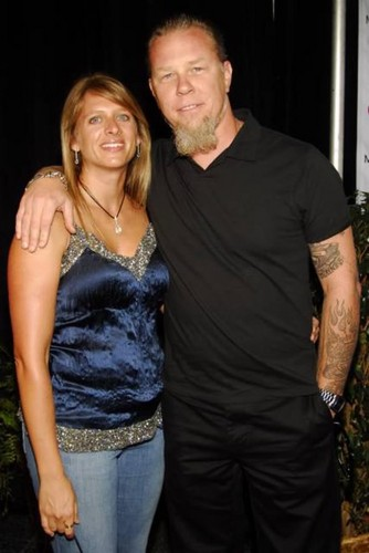 James Hetfield fond d'écran titled Francesca And James Hetfield