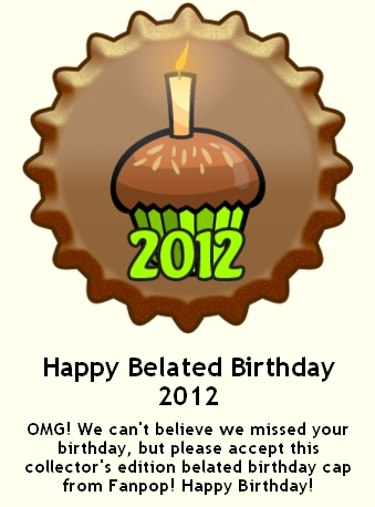 Happy Belated Birthday 2012 ٹوپی