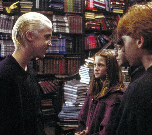 Harry, Ginny and Ron talk with draco HP2