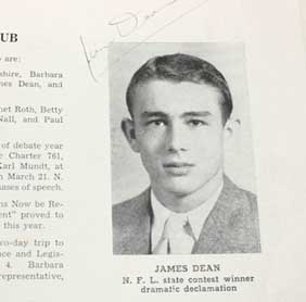 James Dean wallpaper possibly containing a newspaper called High School Yearbook Photo