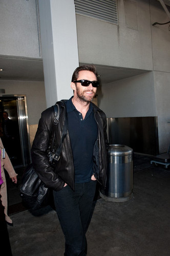 Hugh Jackman at the Airport
