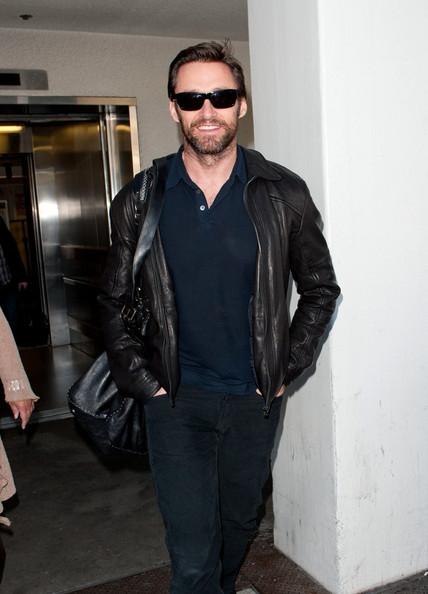 Hugh Jackman at the Airport