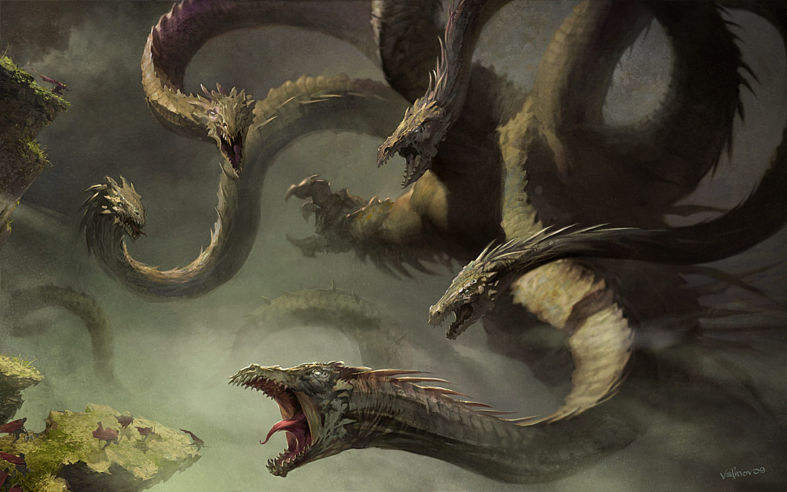Mythical creatures HydraGreek Mythology Hydra