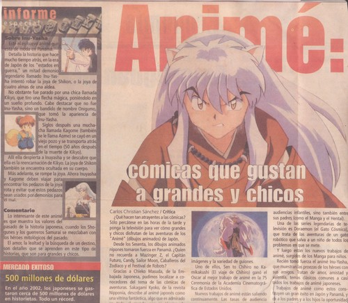 Inuyasha on the newspaper!!
