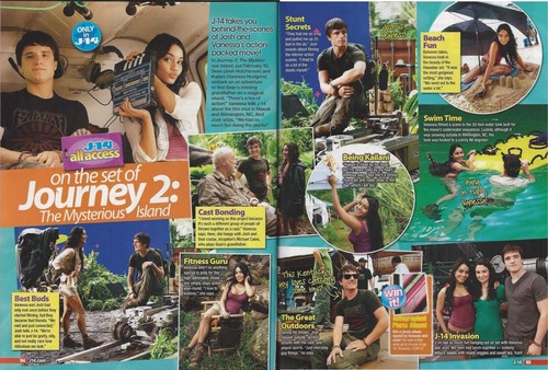 J-14 Magazine Journey 2 On The Set
