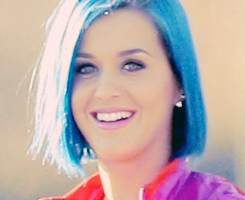 Katy Perry new blue hair