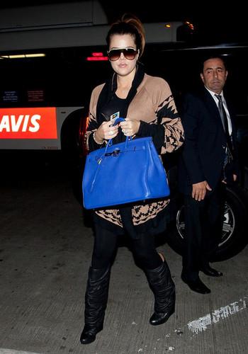 Khloe Kardashian at LAX