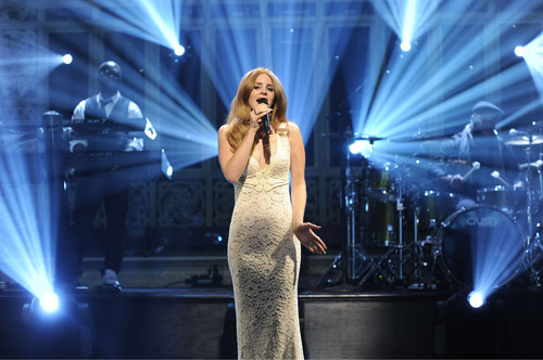 "Lana canto at ""Saturday Night Live"" (Jan 14)"