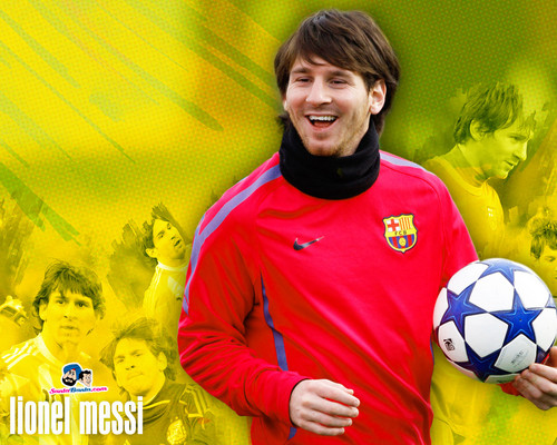 Lionel Andres Messi wallpaper with a soccer ball entitled Lionel Messi
