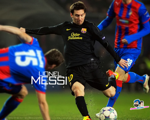 Lionel Andres Messi wallpaper with a soccer ball titled Lionel Messi