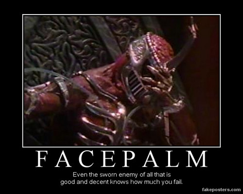 Lord Zedd's facepalm - random Photo