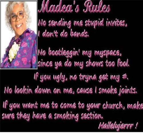 Madea's Rules - madea Photo