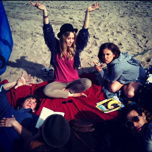 Matt | Shenae and cast on set