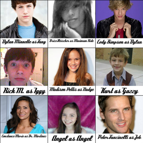 Maximum Ride Hintergrund with a portrait titled Maximum Ride Cast