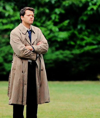 Misha as Castiel