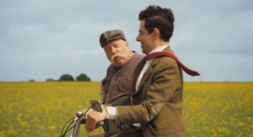 Mr. bohne Hintergrund with a spurge, a buttercup, and a winter jasmin called Mr.Bean's holiday