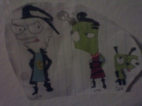 My first Invader Zim drawing - invader-zim Fan Art