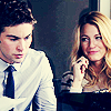 Serena and Nate photo containing a business suit, a well dressed person, and a portrait entitled NS 5x11