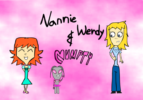 Nannie Wendy and Numpty (Non-shaded)