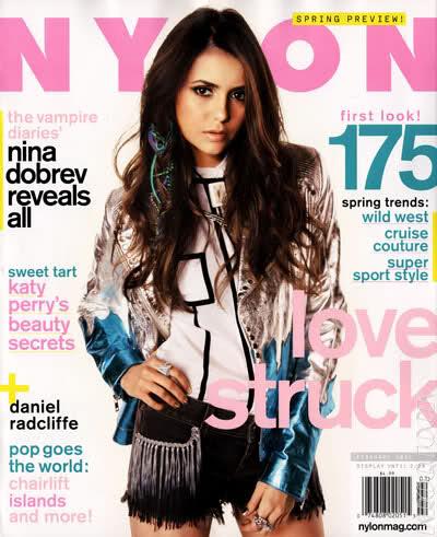 Nina Dobrev - Nylon Magazine Feb Issue foto Shoot