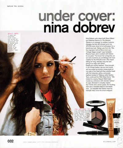 Nina Dobrev - Nylon Magazine Feb Issue 照片 Shoot