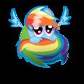 OMGOSH so cute regenboog Dash!