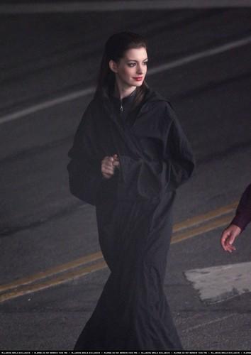 "On set of ""The Dark Knight Rises'"