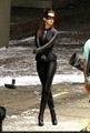 "On set of ""The Dark Knight Rises' - anne-hathaway photo"