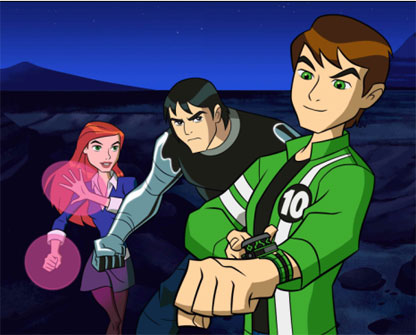 Ben 10: Ultimate Alien achtergrond containing anime titled Power up
